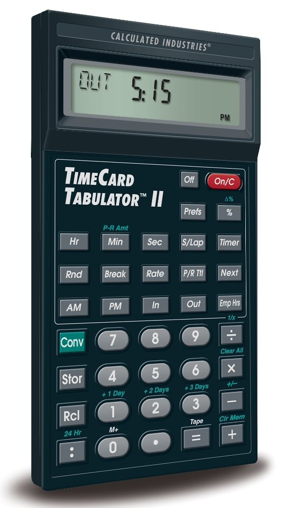 Amazon.Com: Calculated Industries 9530 Timecard Tabulator Ii: Home