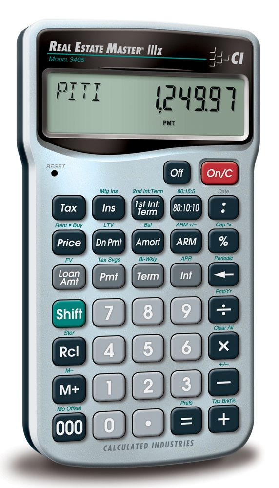 amazon com  calculated industries 3405 real estate master iiix real estate finance calculator