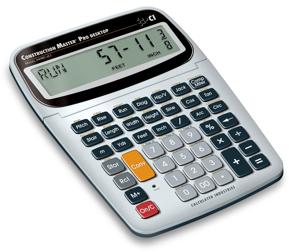 Calculated industries 44080 construction for Build a house calculator free