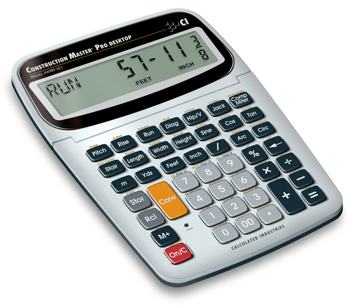 Calculated industries 44080 construction master pro for Home construction calculator