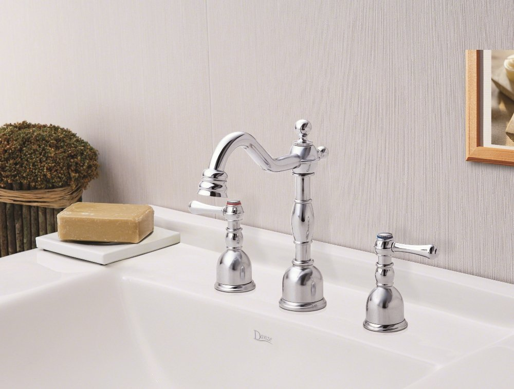 Danze D303057 Opulence Two Handle Mini Widespread Lavatory Faucet Chrome Touch On Bathroom