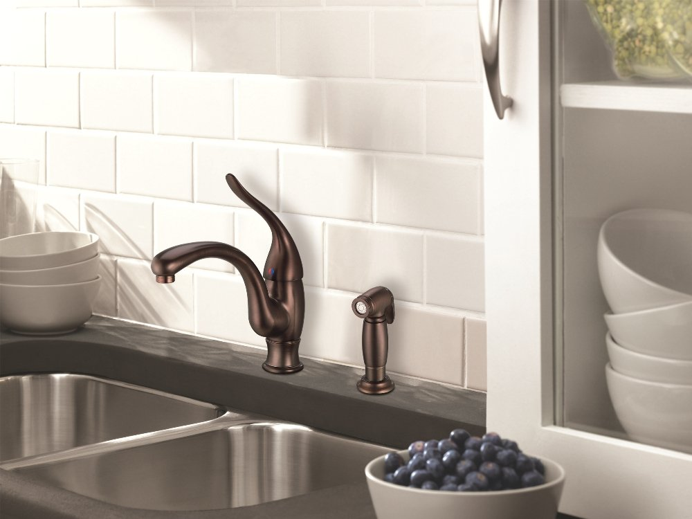 superior Oil Rubbed Bronze Faucet Kitchen #2: D405521RB Antioch Kitchen Faucet