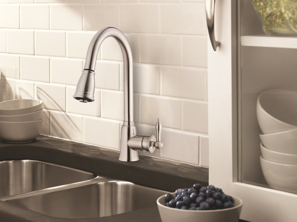 Pull Down Kitchen Faucet Image. Source: Amazon.com