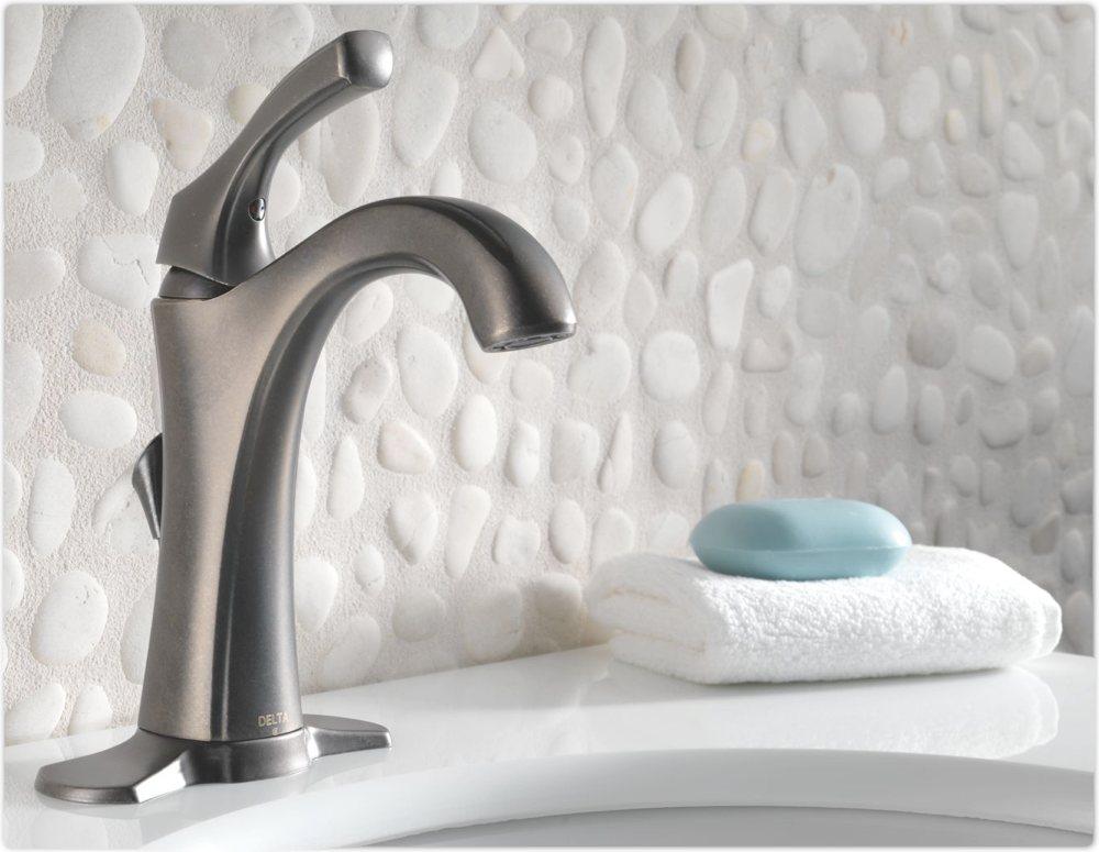 Delta 592-DST Addison Single Handle Centerset Bathroom Faucet ...