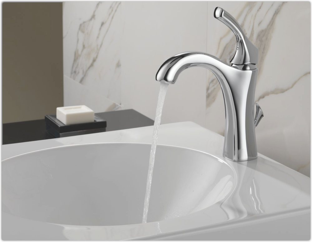 Delta 592-DST Addison Single Handle Centerset Bathroom Faucet ...