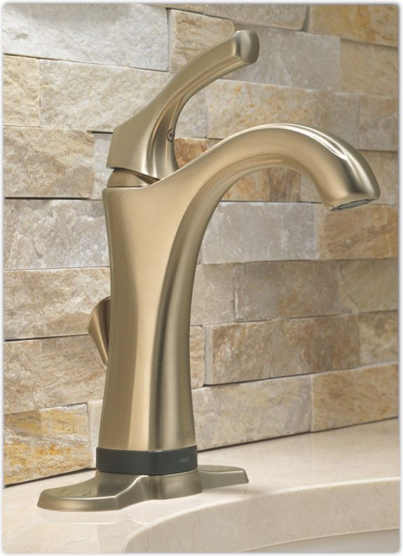 Delta 592T-RB-DST Addison Single Handle Bathroom Faucet with Touch2O ...