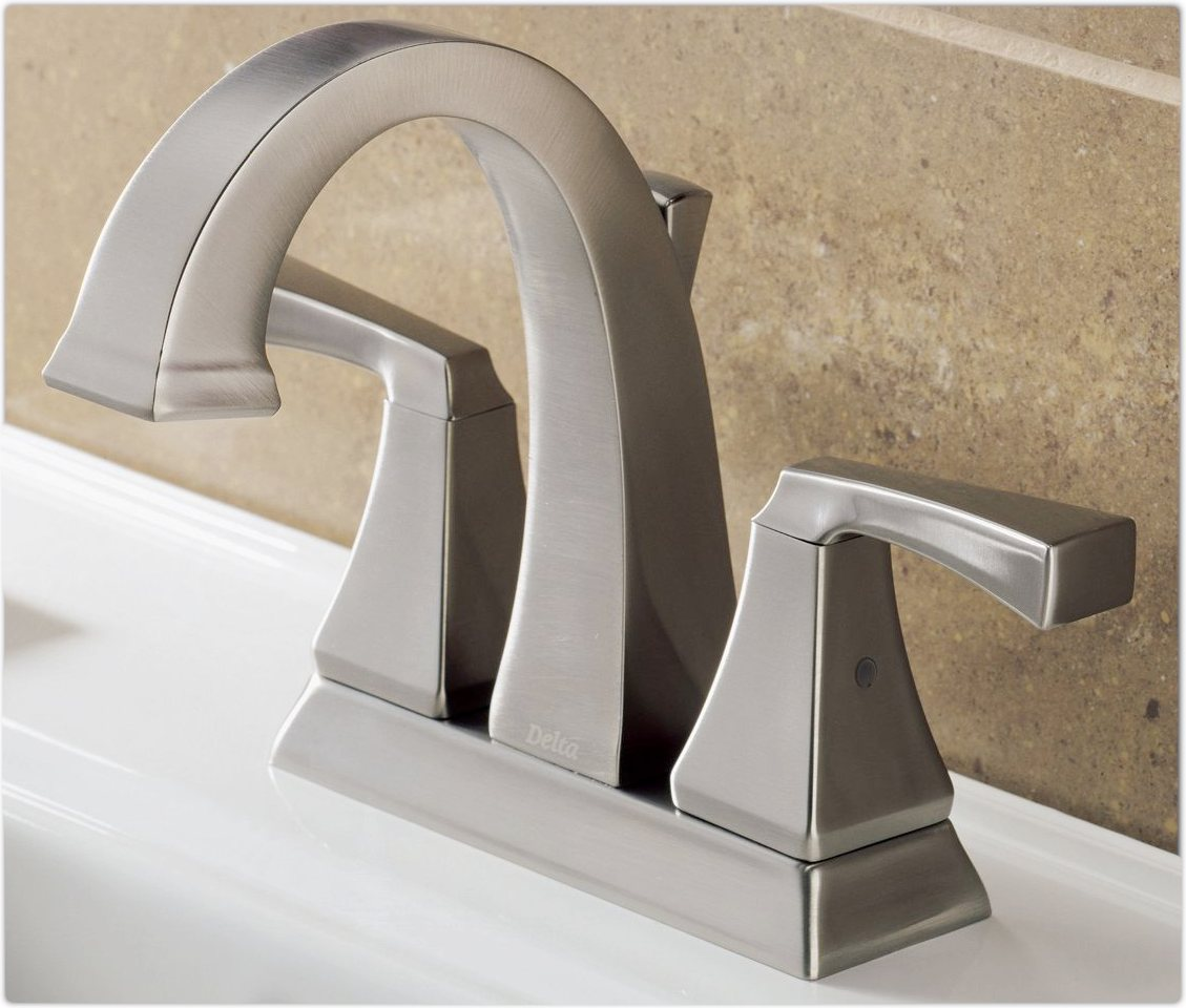 Delta 2551LF-SS Dryden Two Handle Centerset Bathroom Faucet ...