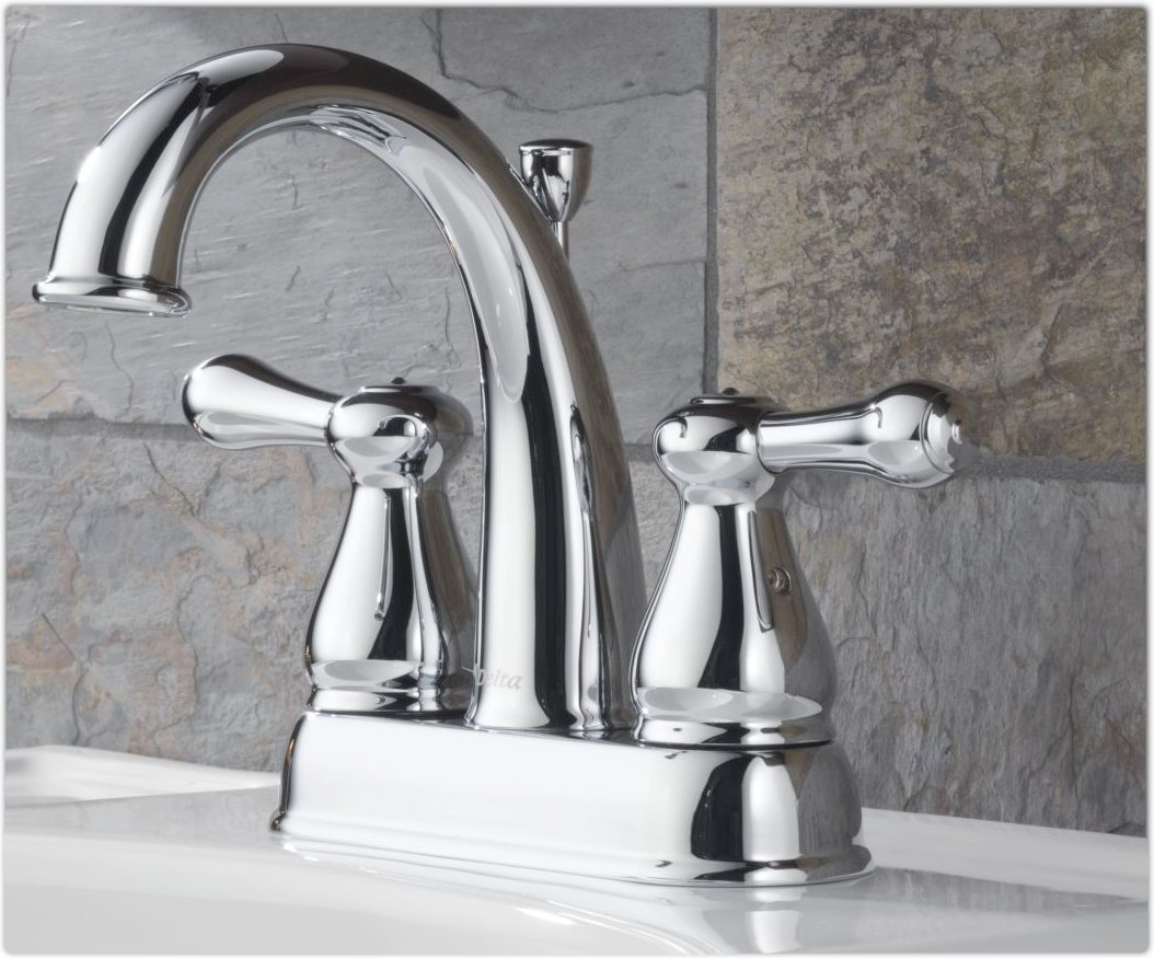 Delta 2575lf Leland Two Handle Centerset Bathroom Faucet
