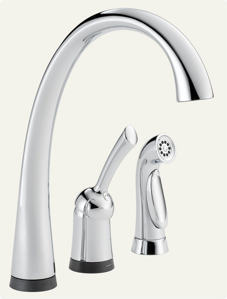 Delta 4380T-DST Pilar Single Handle Kitchen Faucet with