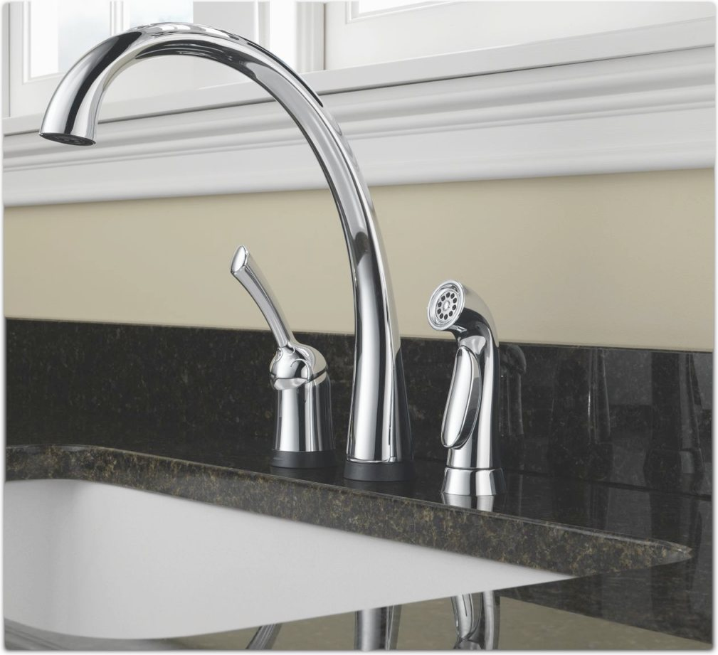 Kitchen Faucet No Water: Delta 4380T-DST Pilar Single Handle Kitchen Faucet With