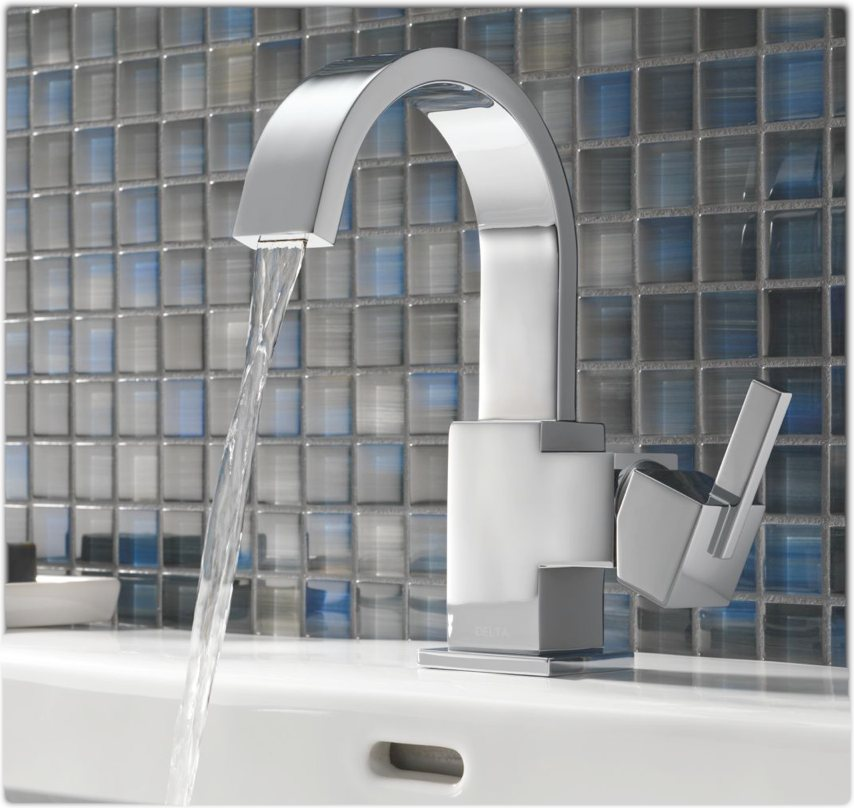 delta 553lf vero single handle lavatory faucet chrome touch on