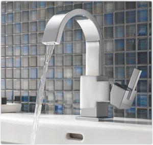 Delta 553LF Vero Single Handle Bathroom Faucet, Chrome - Touch On ...