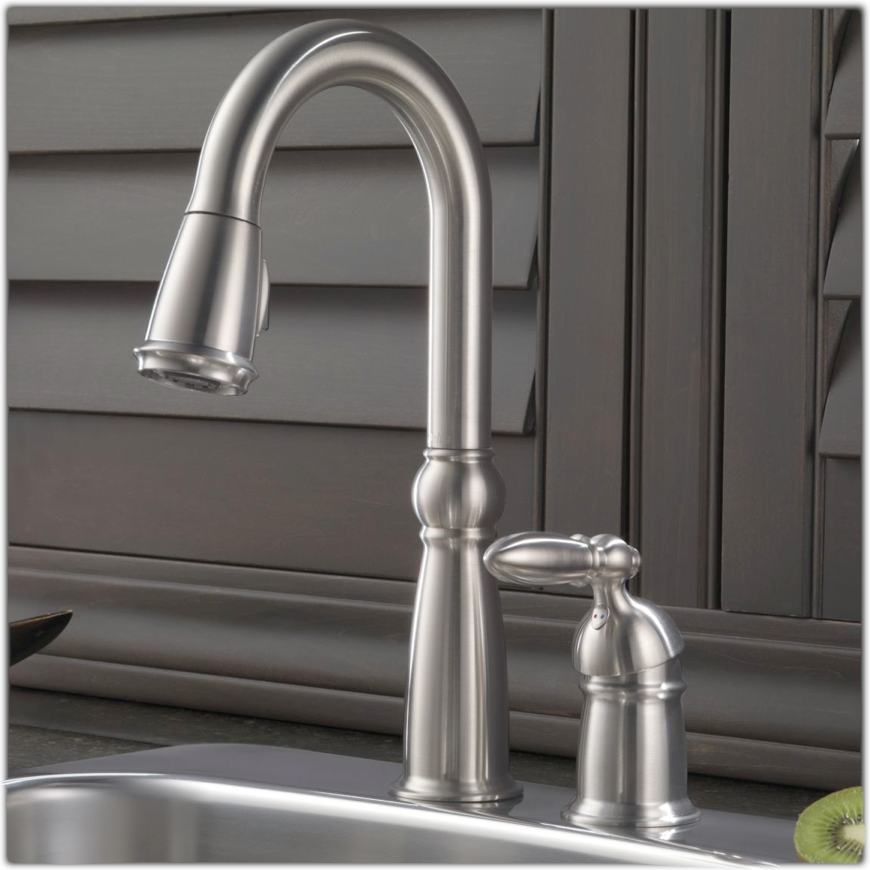 Delta 9955-RB-DST Victorian Single Handle Bar/Prep Faucet
