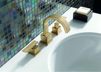 Delta 3553LF Vero Two Handle Widespread Bathroom Faucet