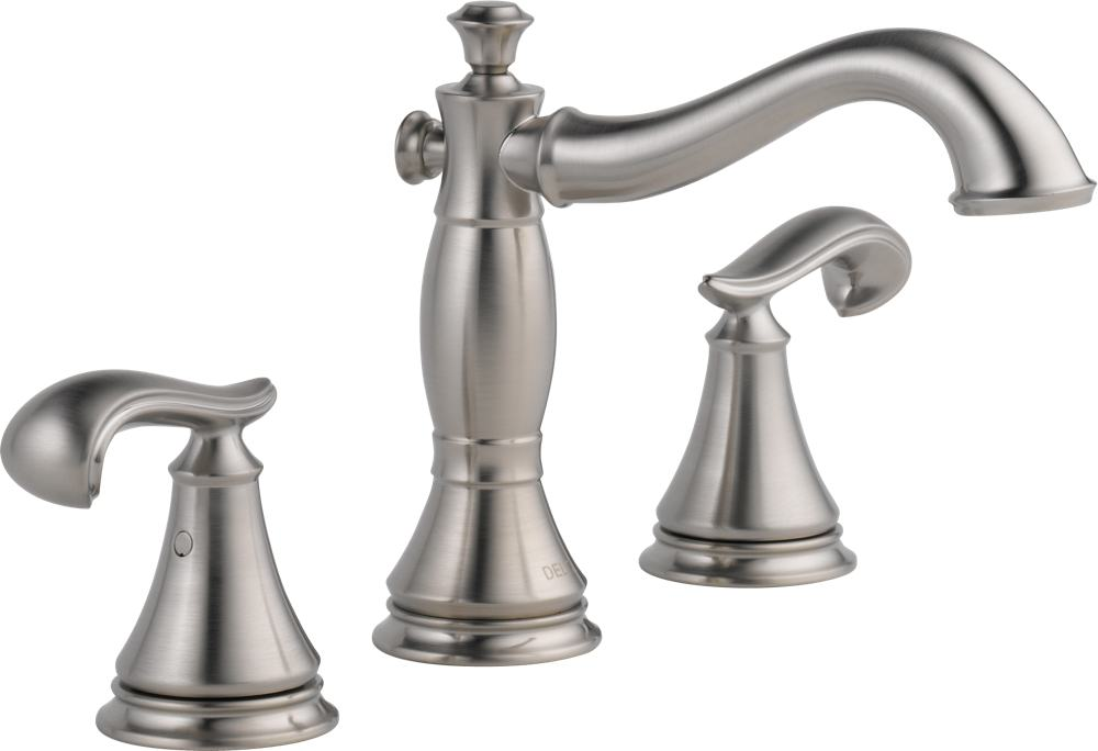 Delta Faucet 3597LF-CZMPU Cassidy Two Handle Wide Spread Bathroom ...