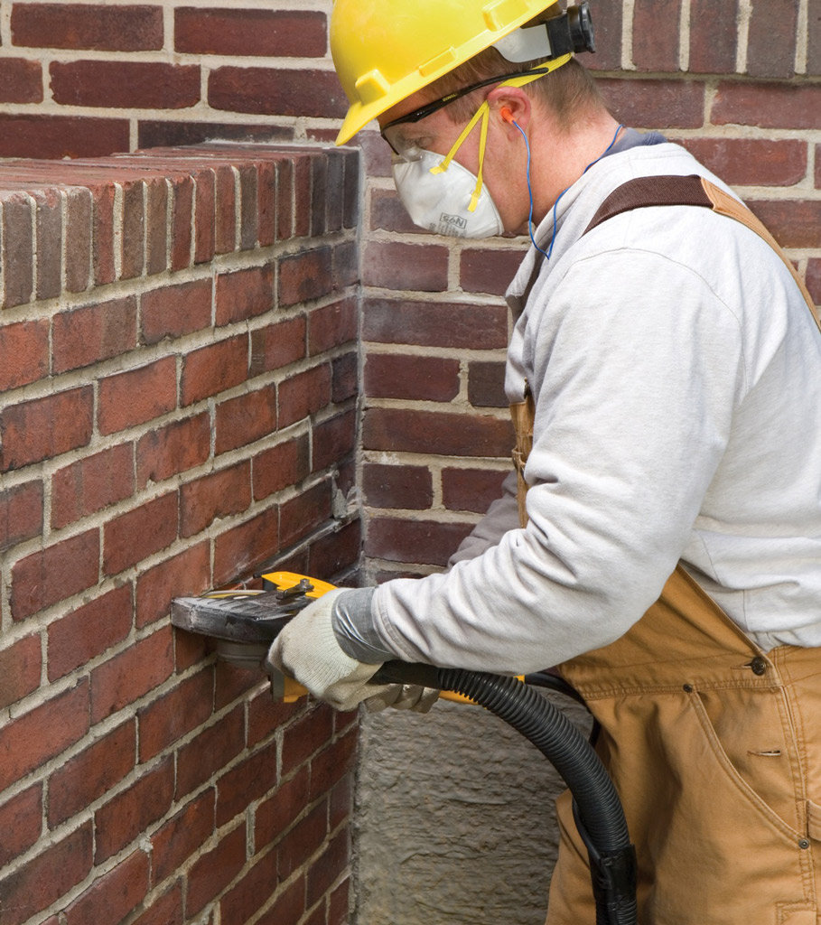 how to cut the brick wall equipment
