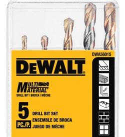 Dewalt Dwa56015 Multi Material Drill Bit Set 5 Piece