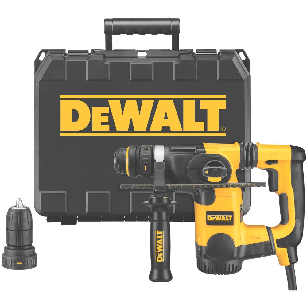 dewalt d25324k 1 inch l shape sds rotary hammer kit with quick rh amazon com