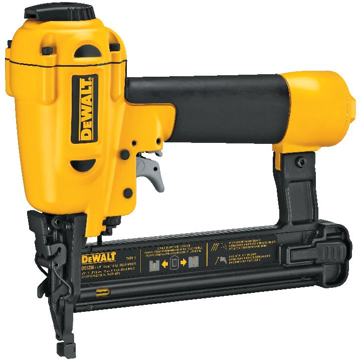 nailer, a brad nailer, and an air compressor (click each to enlarge