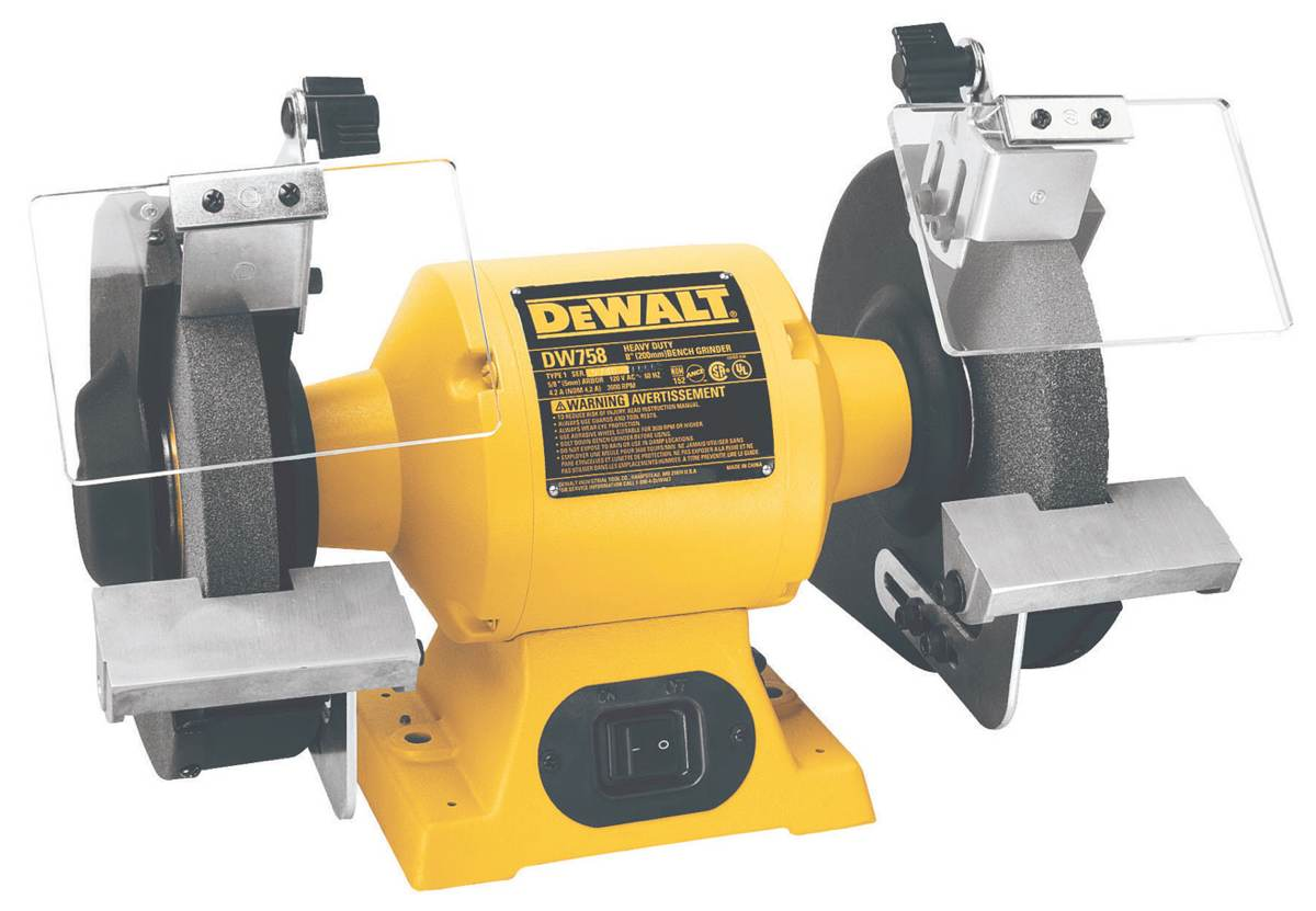 6-inch bench grinder with 5/8 horsepower motor