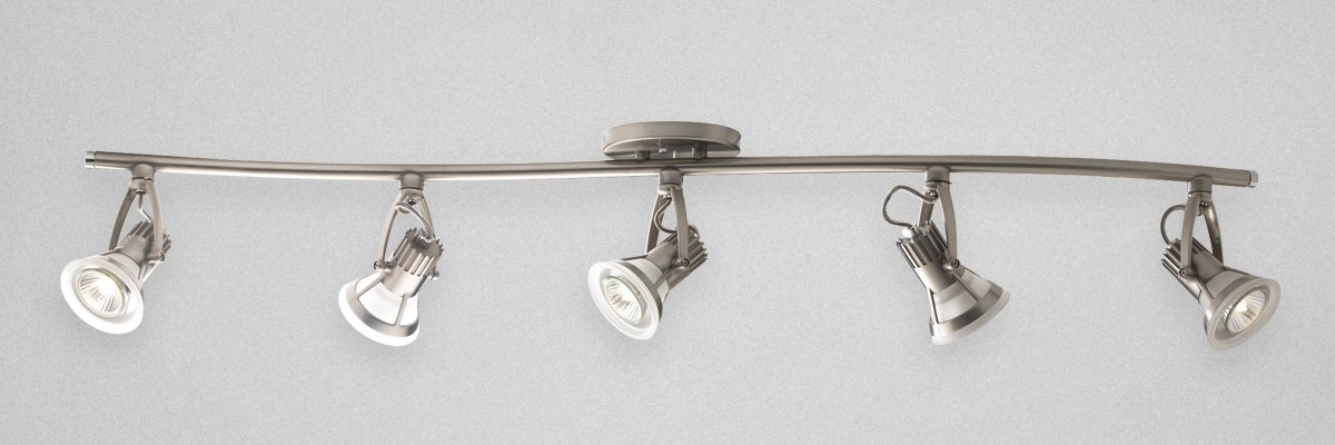 elegant track lighting. Gently Curved Track Light Provides Elegant Overhead Lighting H