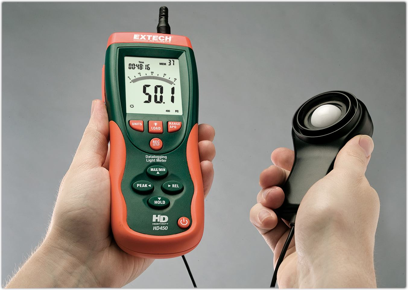 Amazon.com: Extech HD450 Datalogging Heavy Duty Light Meter: Home