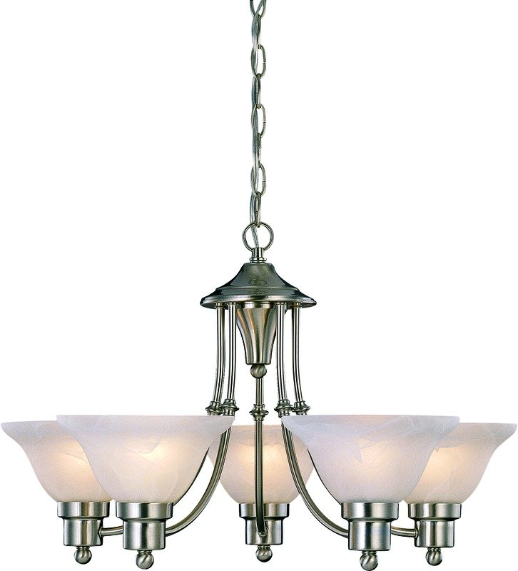 Hardware house 544452 bristol 5 light chandelier brushed nickel home improvement - Can light chandelier ...