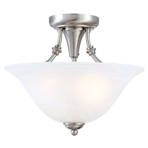 nickel light fixtures chrome hardware house bristol semiflush light fixture 544676 13by11inch 2light semiflush