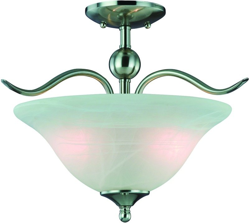 Hardware House H10-4289 Dover Semi Flush Mount Ceiling Light, Satin ...