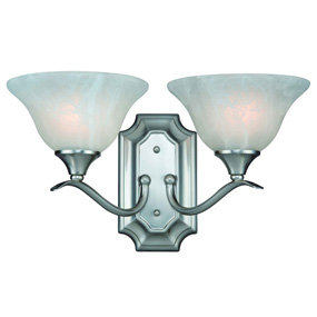 Hardware House Dover two-light bath fixture