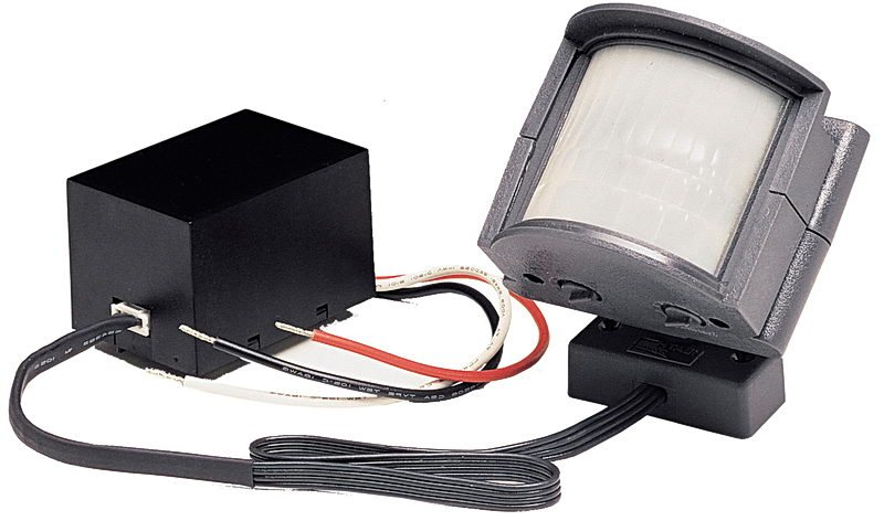 Converts existing lighting to a motion-sensing security light (view larger).  sc 1 st  Amazon.com & Heath/Zenith SL-5210-GR-B 110-Degree Wire-In Motion-Sensing Light ...