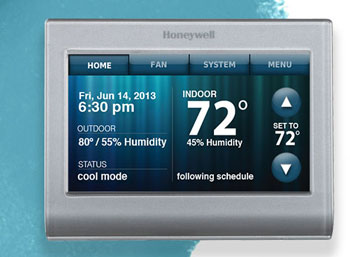 Honeywell RTH9580WF Smart Wi-Fi 7 Day Programmable Color Touch Thermostat, Works with Amazon Alexa