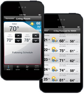 Honeywell Wi-Fi Thermostat Model RTH8580WF 7 day Programmable IPhone Compatible