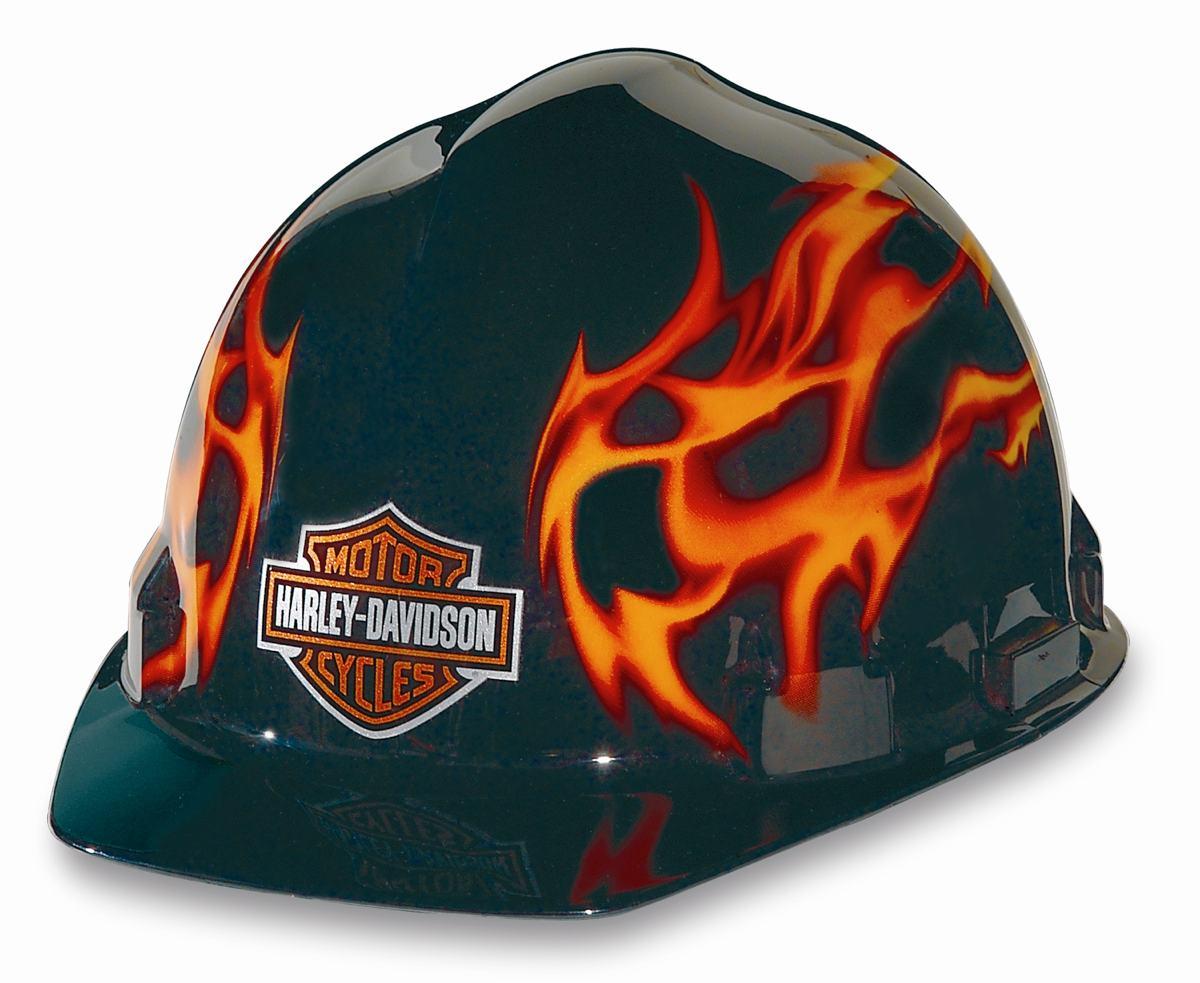 Harley-Davidson RHDHHAT10K Flames Hard Hat - Harley Hardhat - Amazon