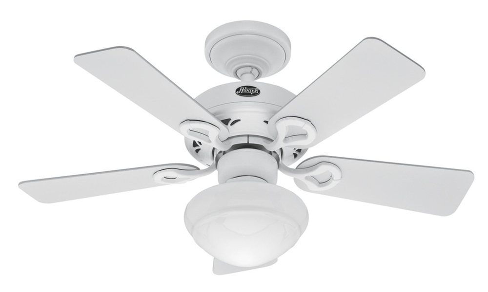 Hunter 20422 Bainbridge 36-Inch 5-Blade Ceiling Fan with Optional ...