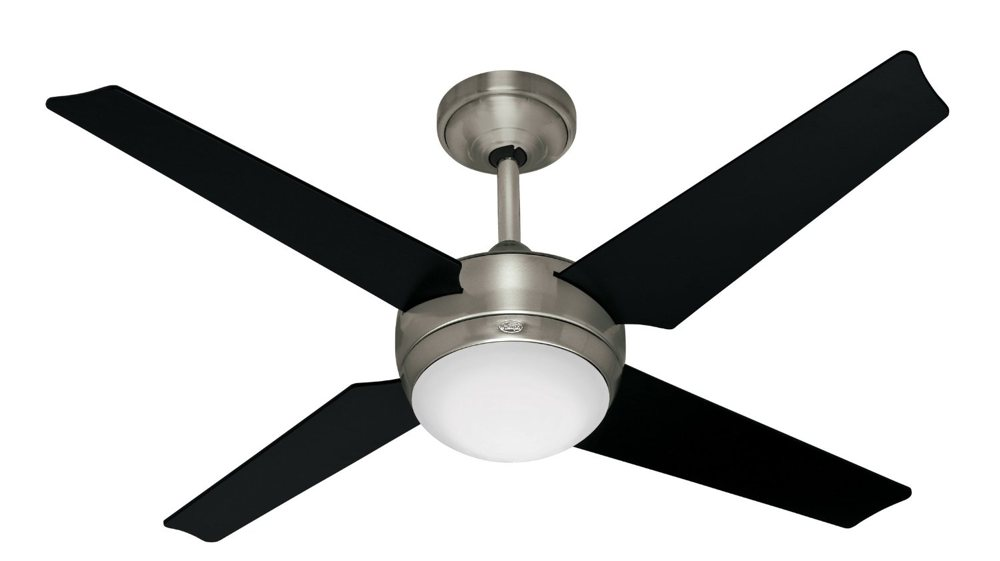 Hunter 21585 Sonic 52 Inch Brushed Nickel Ceiling Fan With Light Kit And Remote Amazon Com