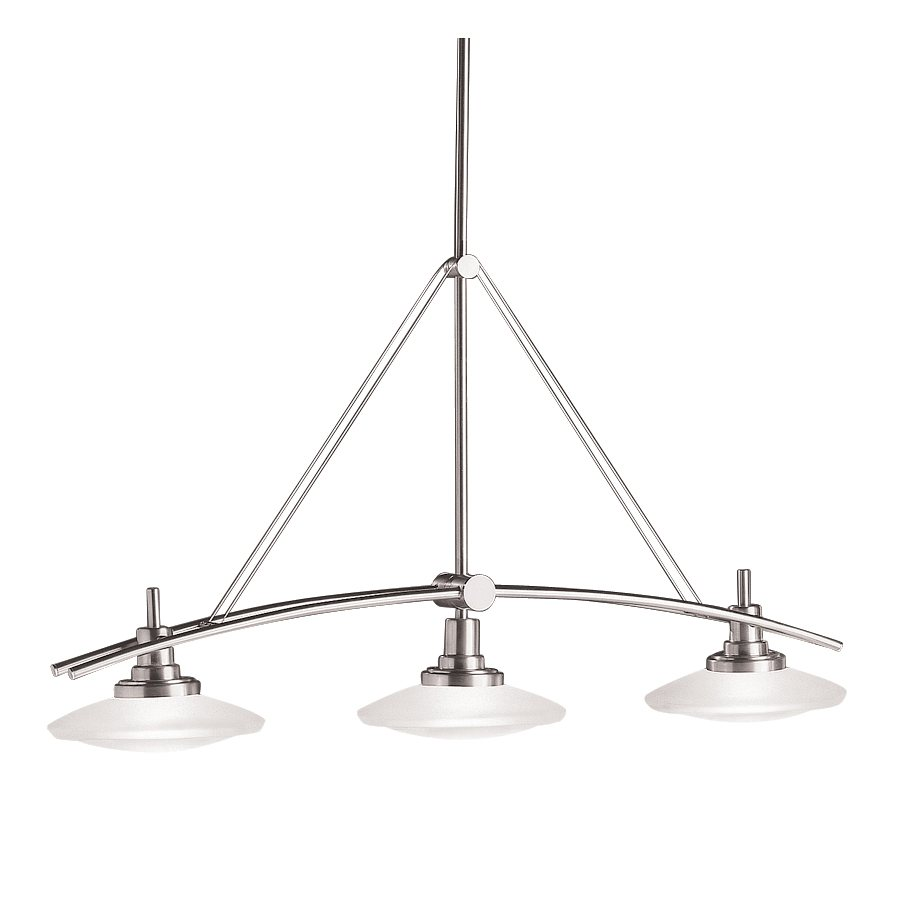 3 light kitchen island pendant rustic chandelierisland light in brushed nickel view larger kichler 2955ni structures linear chandelier 3light halogen brushed