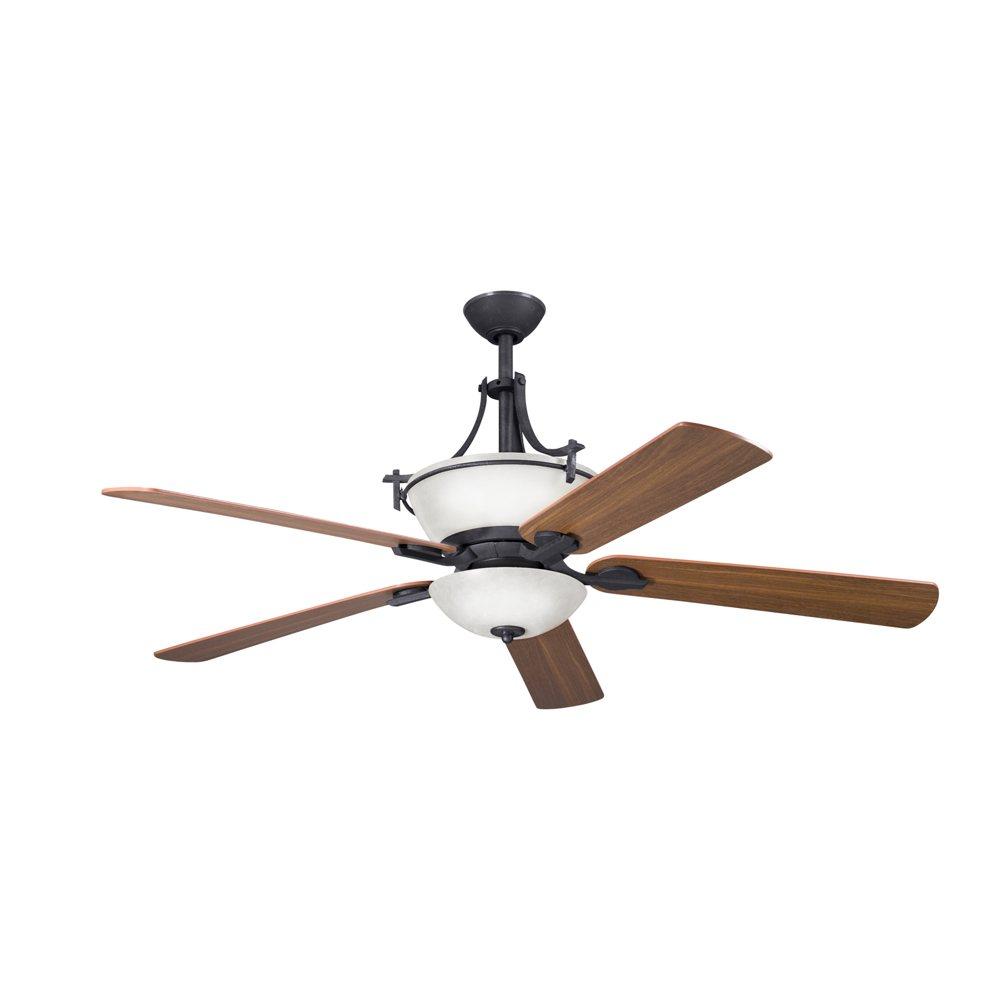Kichler 300011DBK 60-Inch Olympia Ceiling Fan, Distressed