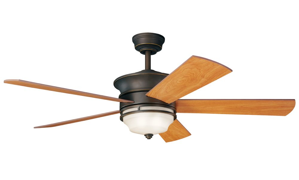 300114-blades-walnut . - Kichler 300114NI 52`` Ceiling Fan - - Amazon.com