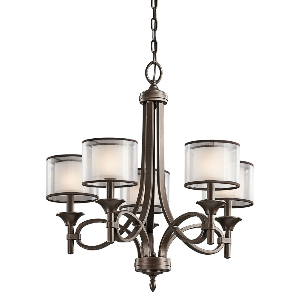 The Lacey 5 Light Chandelier In Mission Bronze