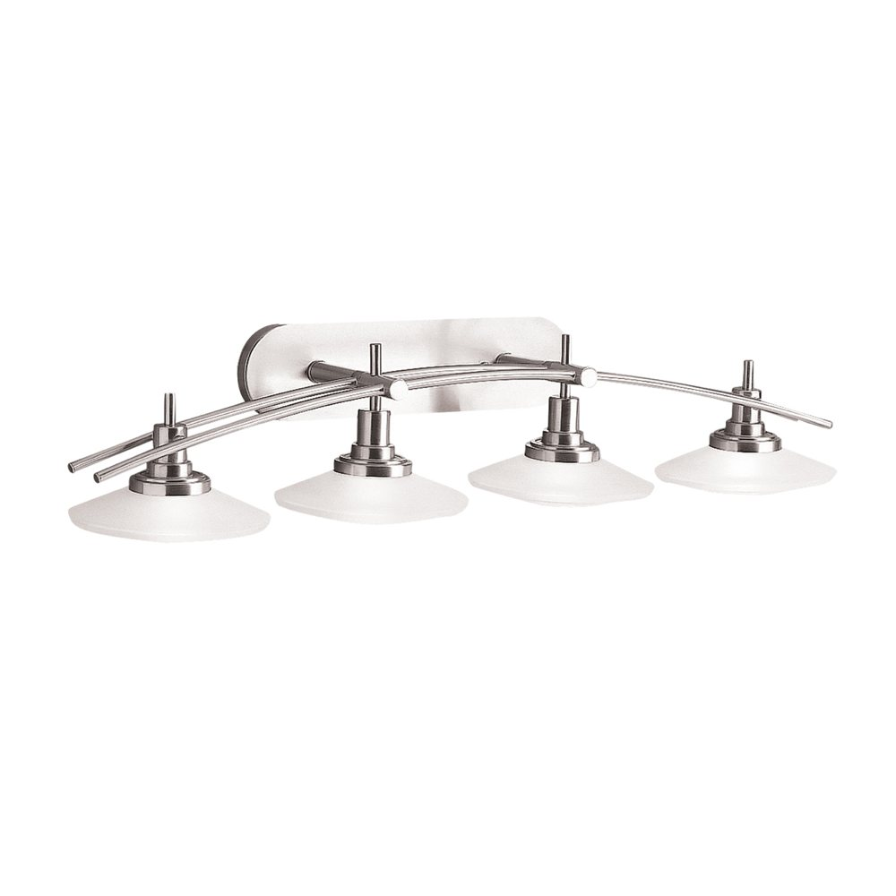 Kichler 6464ni four light bath vanity lighting fixtures amazon 6464ni main nickel aloadofball Image collections