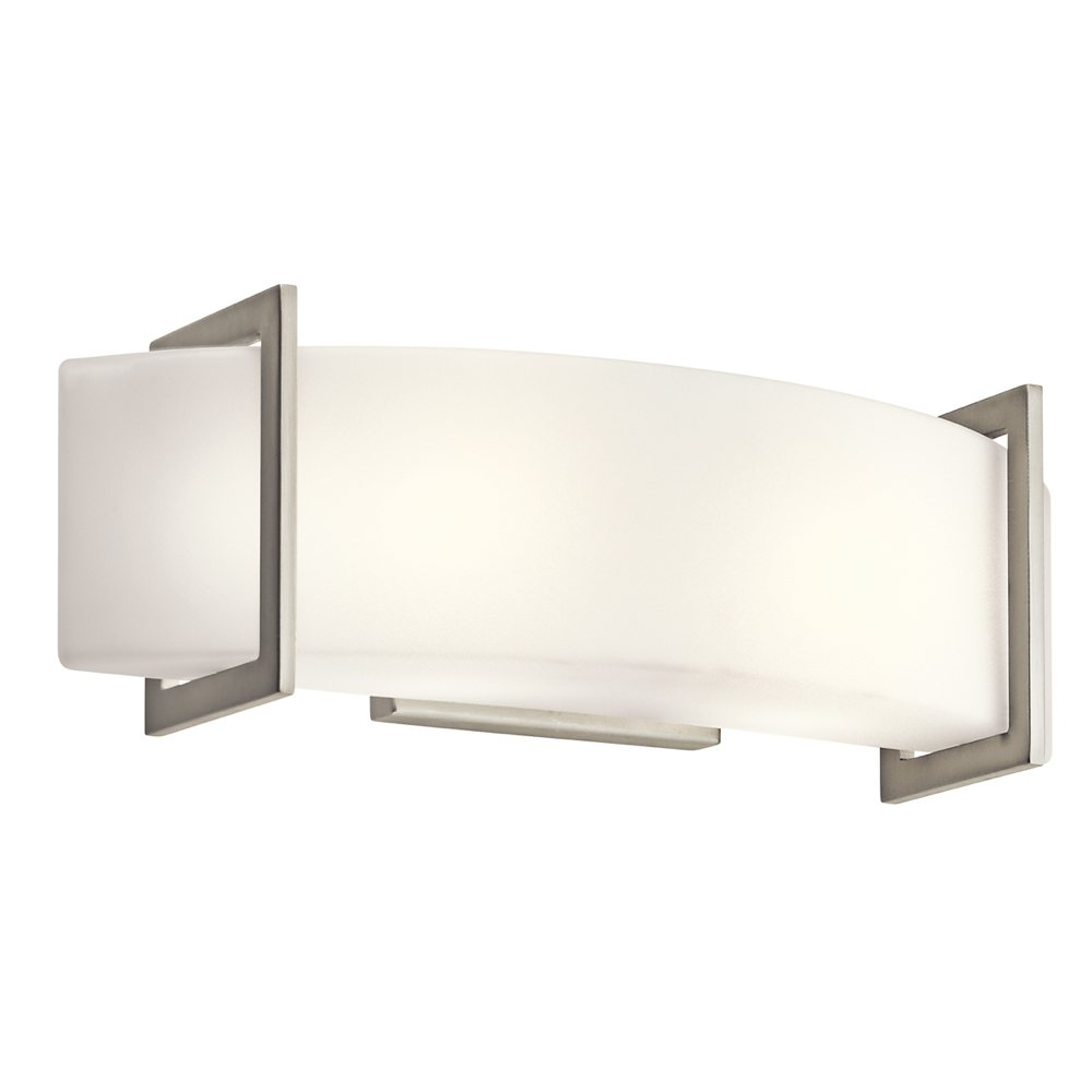 Kichler 45218ni Two Light Linear Wall Sconce Bathroom