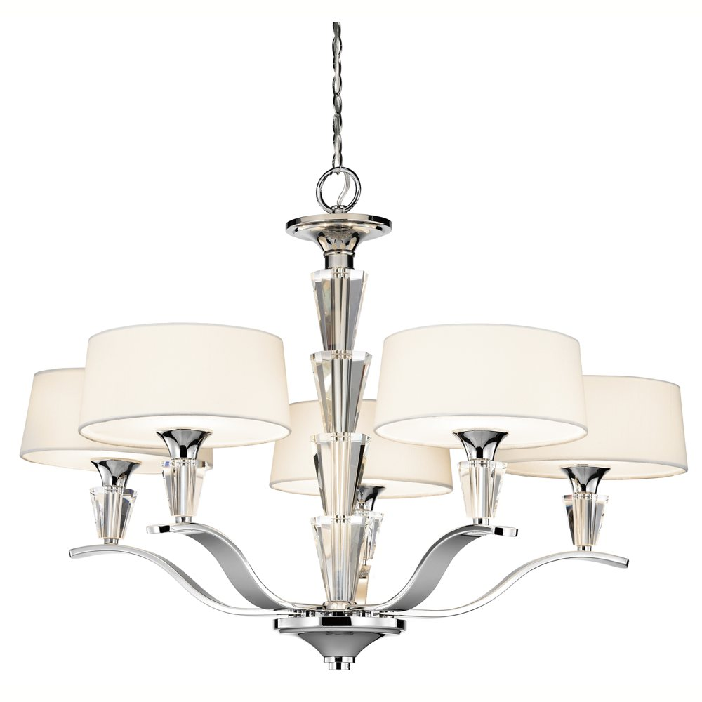 Kichler crystal persuasion chandelier 5 light chrome dinning room amazon aloadofball Choice Image