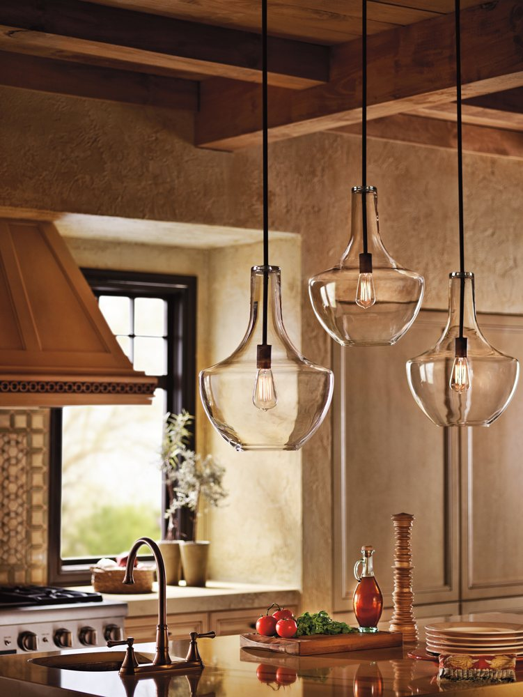 kichler kitchen lighting kichler lighting 42046oz everly 1 light pendant 2090