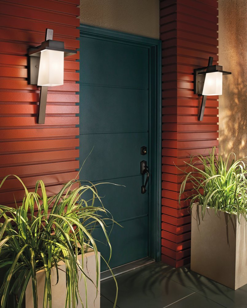 Kichler 49258az one light outdoor wall mount wall porch lights contemporary take on outdoor lighting view larger aloadofball