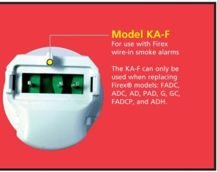 KAF_small._V363316589_ kidde ka b, ka f universal smoke alarm adapters, 2 different units  at edmiracle.co