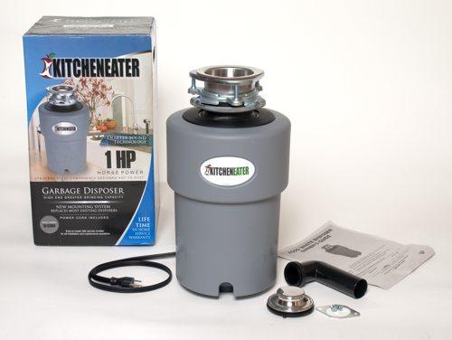 KitchenEater KE1PC 1 HP Garbage Disposer Grey