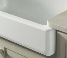 Kohler Whitehaven self-trimming apron-front single-basin sink ...