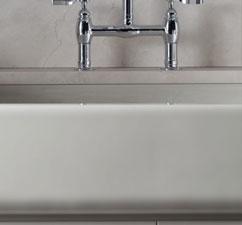Kohler Whitehaven self-trimming apron-front single-basin sink