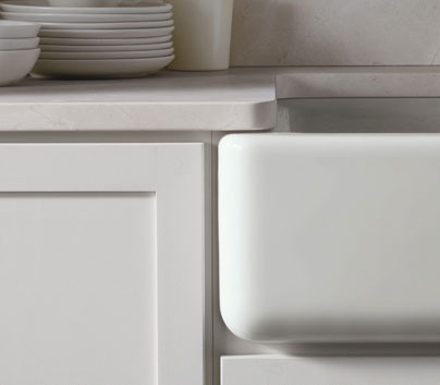 The Kohler Whitehaven Apron Front Single Basin Sink Is Made Of Enameled  Cast Iron, Has A Self Trimming Apron, And Is Easy To Install (click Each To  Enlarge) ...